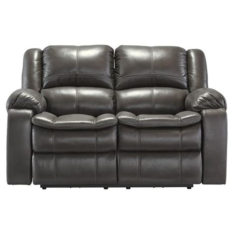 Gray Faux Leather Reclining Sofa Faux Leather Power Reclining Loveseat