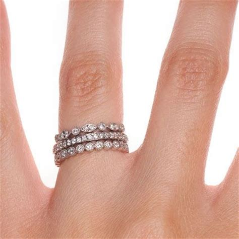 stacked eternity wedding bands luxe antique eternity ring stack style