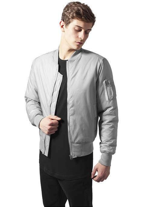 Jaket Bombber Scrimmer Light Grey Jaket Bomber Jaket Bomber grey bomber jacket mens jacketin