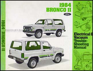 electric and cars manual 1989 ford bronco ii security system 1984 ford bronco ii only electrical troubleshooting manual 84 original oem book