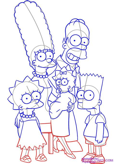 How To Draw The Simpsons On The by Step 5 How To Draw The Simpsons
