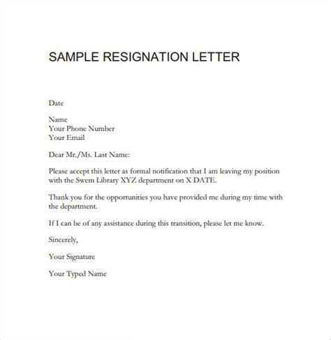 Resignation Letter Viral Resignation Letter Sle Pdf Teaching Letter Sle Letter Templates