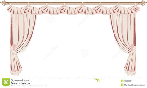 Pink And White Curtains Pink Curtains Royalty Free Stock Photography Image 15644827