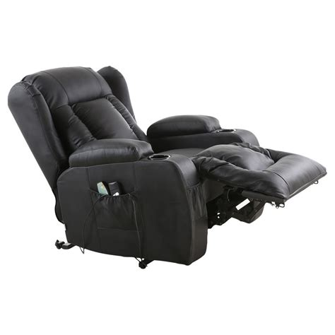 heated armchair caesar electric rise recliner winged leather armchair