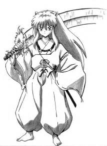 inuyasha coloring pages free printable inuyasha coloring pages for