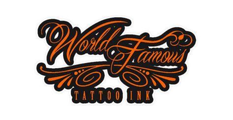 world famous tattoo ink logo les encres world famous tattoo ink studios tatouage
