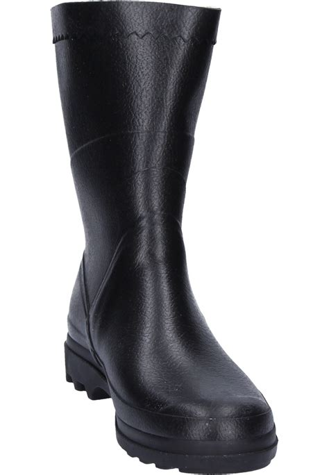 rubber boot height aigle bison black rubber boots a half height universal