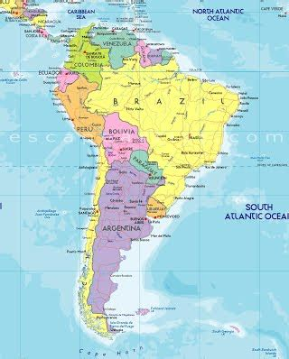 map of usa and south america maps south america