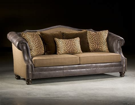 Leather Fabric Sectional Sofa Leather And Fabric Combination Sofas King Hickory Thesofa