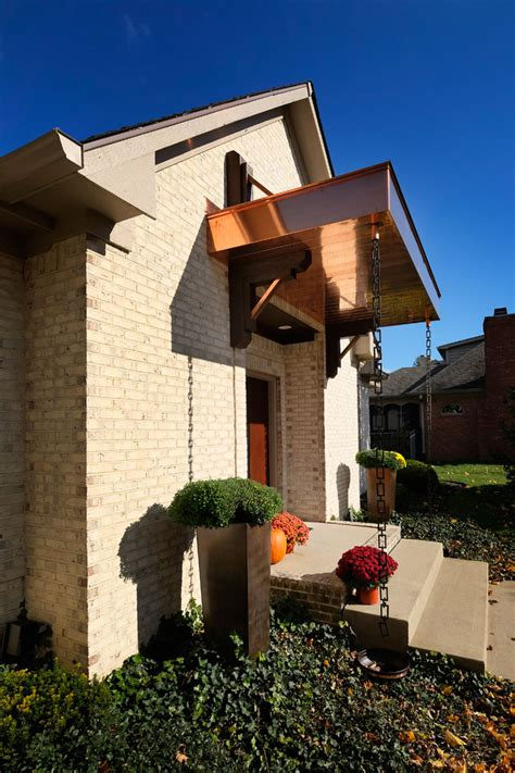 greenwood copper clad entry porch roof gettum associates