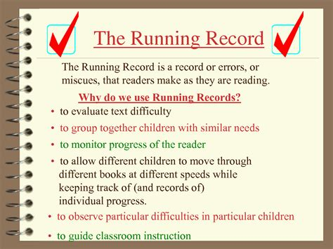 Running Records Mrs Judy Araujo Reading Specialist Running Record Template Early Childhood