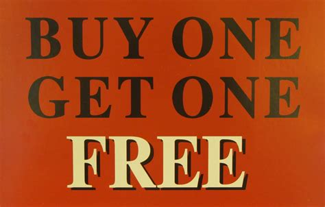 Guy one get one free