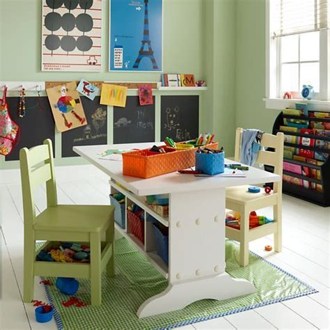 kids art table with storage carolina grow with you craft table pottery barn kids