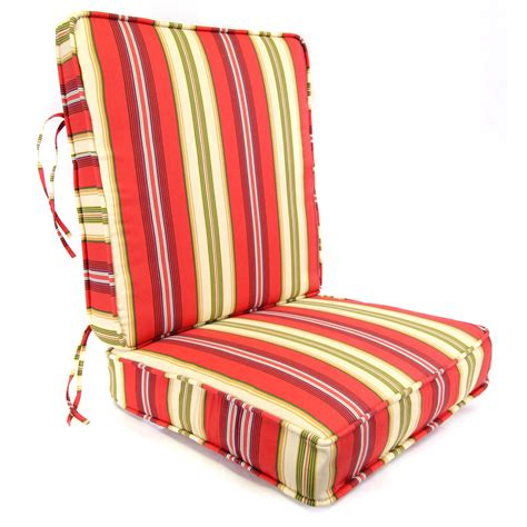 Lipstik Cair Shop shop gamali lipstick stripe seat patio chair cushion for seat chair at lowes
