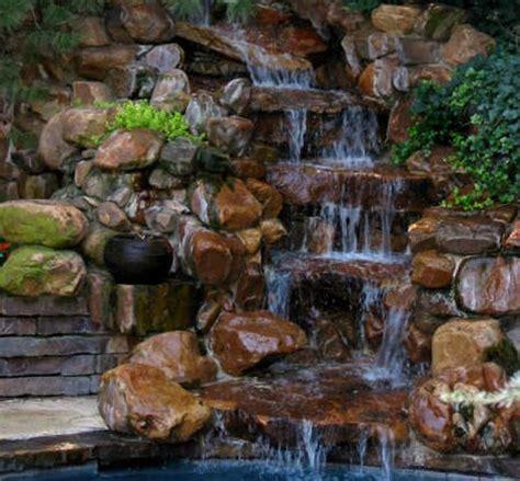 waterfalls backyard relaxing backyard waterfalls ideas rilane