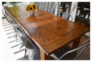 Harvest Dining Room Table diy farmhouse table wild ink press