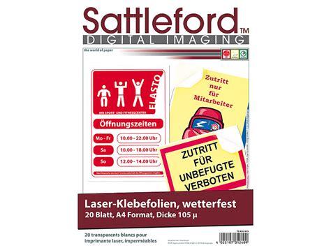 Laserdrucker Aufkleber Selbst Drucken by Sattleford 20 Klebefolien Wetterfest A4 F 252 R Laserdrucker Wei 223