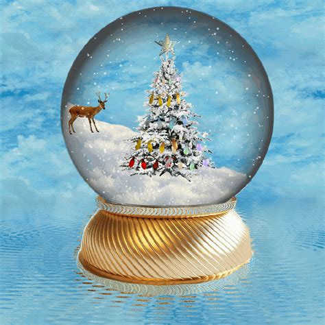 asda gold reindeer snowglobe tree decoration 163 2 00 at asda