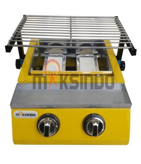 Pemanggang Sate Murah mesin pemanggang sate bbq 2 tungku gas toko mesin maksindo toko mesin maksindo