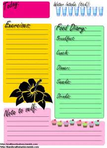 food and exercise journal template printable food journal exercise daily journal there s no