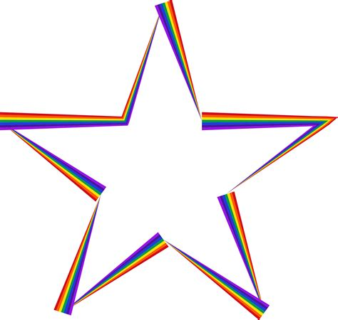 rainbow  star banner transparent png files  clip