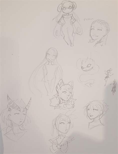 Headshots Doodle Page By Li Xiang On Deviantart