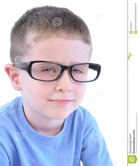 with glasses smart boy with glasses on white stock photo image 28158816