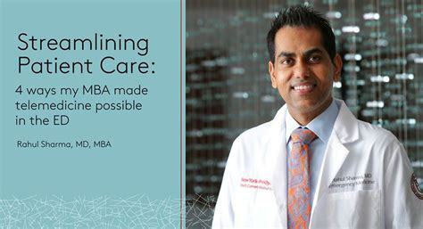 Mba Manager Patient Care by Streamlining Patient Care 4 Ways My Mba Made Telemedicine