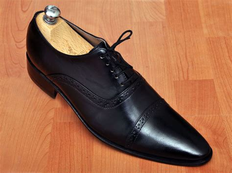 Handmade Mens Oxford Shoes - handmade s oxford black dress leather shoes mens