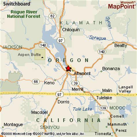 map of oregon klamath falls klamath falls oregon