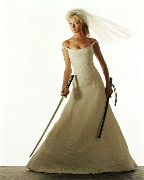 Uma Thurmans Wedding by Uma Thurman In Wedding Dress Kill Bill Fashion In