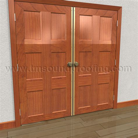 Exterior Door Astragal Surface Mounted Astragal With Neoprene Seal For Soundproofing Active Doors Tm Soundproofing