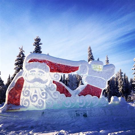 santa claus house north pole ak santa claus house north pole alaska ice sculpture at