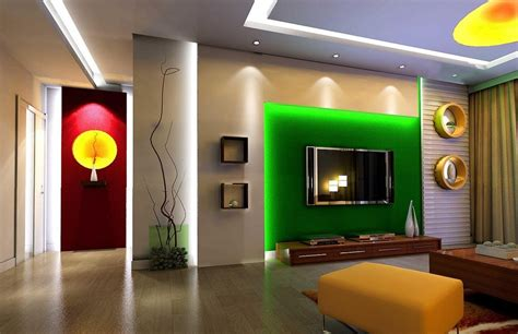 Living Room With Free Tv Living Room Tv Wall Wallpaper And Curtain Design 3d
