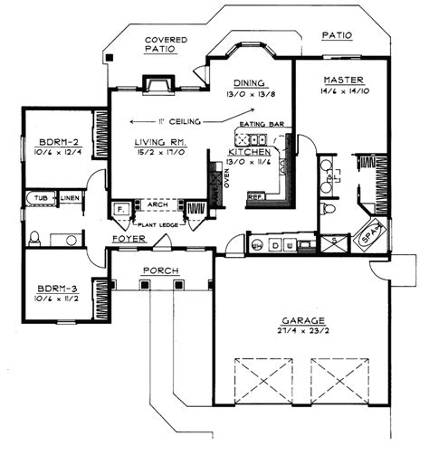 Handicap Floor Plans | goodman handicap accessible home plan 015d 0008 house