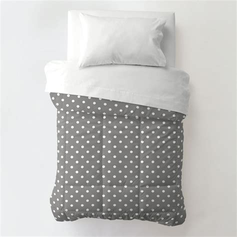 toddler bed blanket gray and white dots and stripes toddler bedding