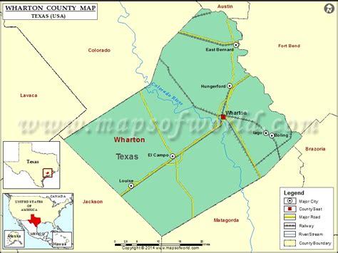 wharton county map texas