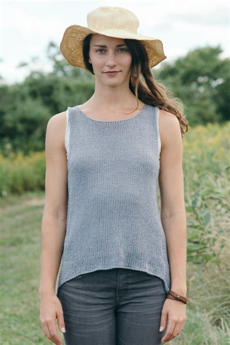 mc knitting term broadturn tank knitting pattern quince and co
