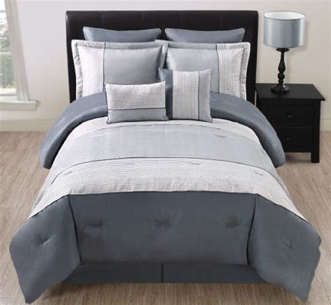 California King Bed In A Bag Sets 12 Cal King Madden Gray And Silver Bed In A Bag Set By Kinglinen 124 99 Give Your