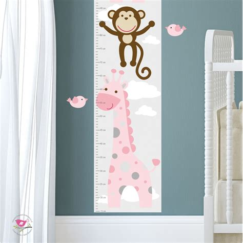 Jungle Animal Nursery Wall Art Stickers Pink Wall Decals For Nursery