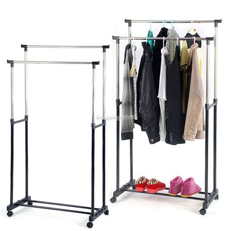 Racks For Hanging Clothes by Rod Garment Rack Rolling Bar Rail Rack Hang Clothes