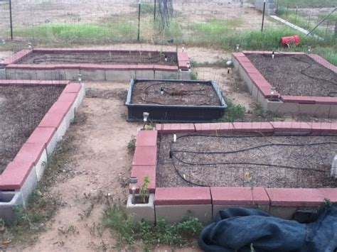 cinder block raised bed concrete block raised garden bed pint size farm