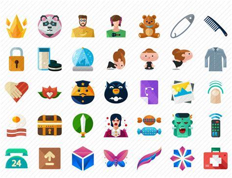 doodle free make 100 free flat icons set freebie jar