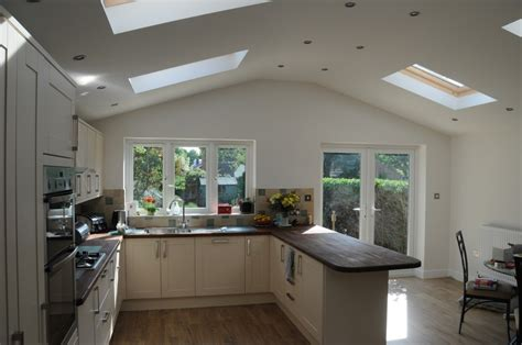 new fitted kitchen in the new extension kitchen diner