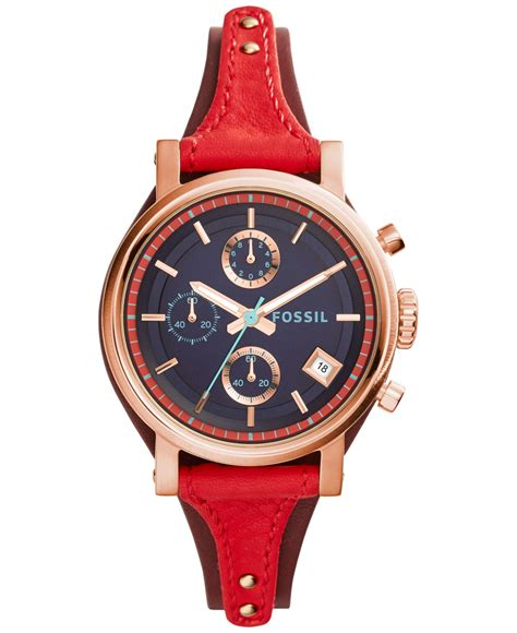 Fossil Es4046 fossil s chronograph original boyfriend leather