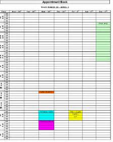 appointment book template schedule template free