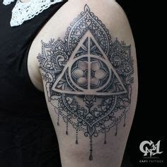 deathly hollows tattoo harry potter deathly hallows always mandala