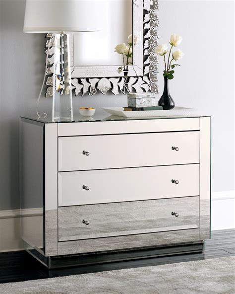 mirrored dresser design ideas features mirrored drawers