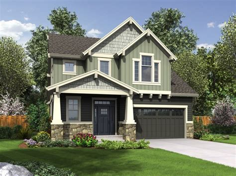Two Story Craftsman Style House Plans narrow house plans with front garage beach house plans