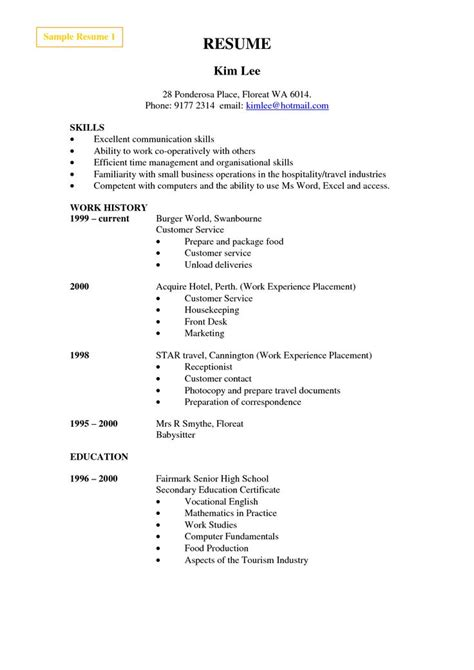 resume sle for cashier 25 best ideas about resume format exles on
